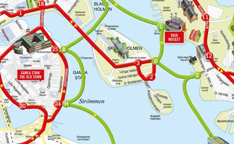 Hop On Hop Off Sightseeing By Bus Experience Stockholm Viking Line - Sweden bus map